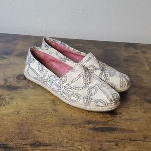 TOMS nautical knot patterned Classics slip ons